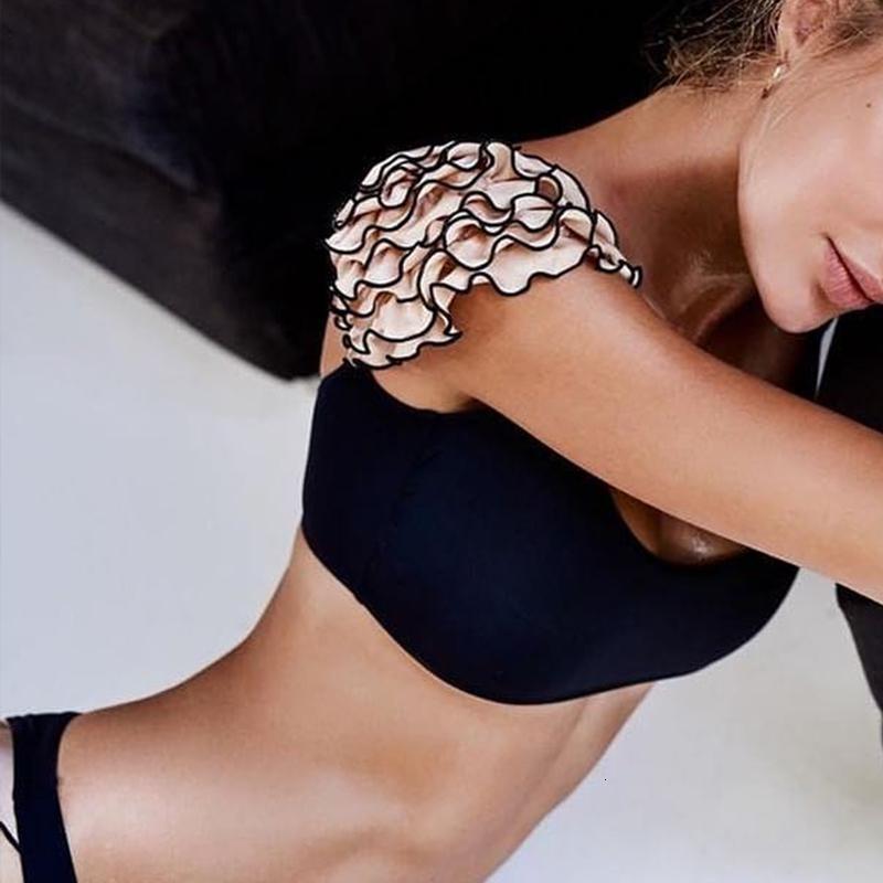 Designer Swimwear bikini per le donne spinge verso l'alto il costume da bagno femminile increspatura sexy 2019 Nuova Bagnanti a fascia Costume da bagno donne brasiliane Micro Bikini