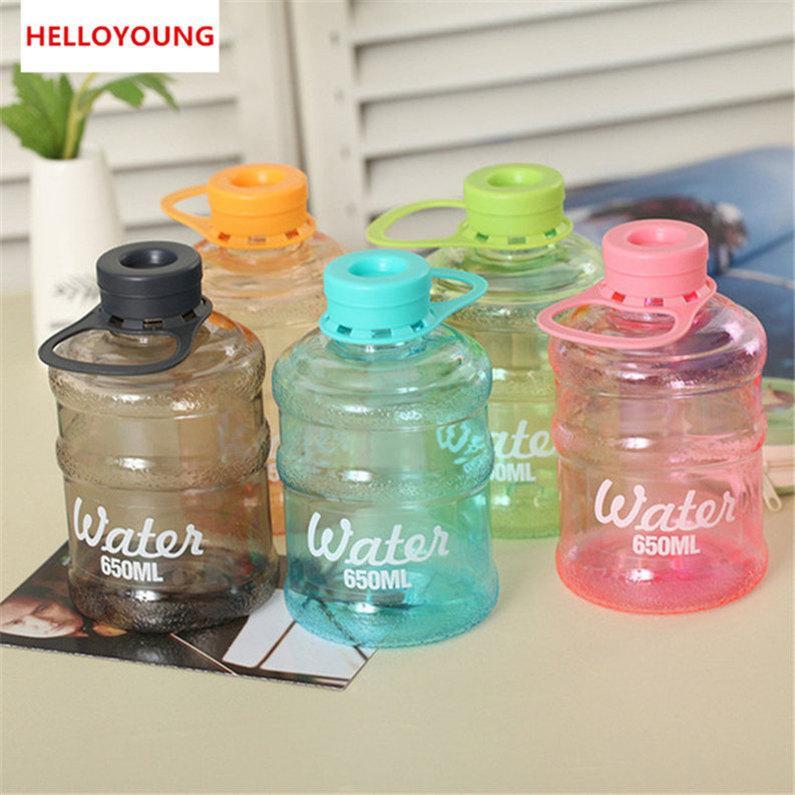 Su Şişe Plastik Taşınabilir Kettle 650ml İçme Şişe Drinkware Kolaylıkla Tercih Edilen Şişe