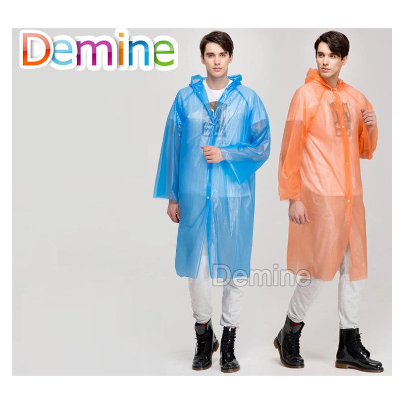 Shoe accessories EVA Thickened Transparent Raincoat Outdoor Portable Travel Rainwear Camping Hooded Ponchos Plastic Rain Cove