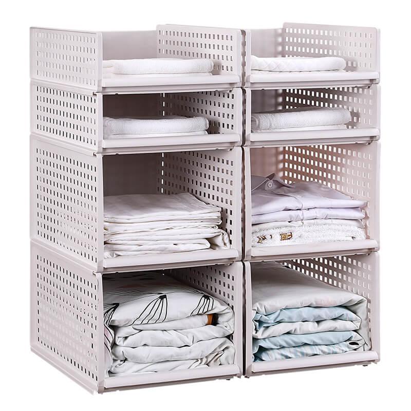 Cassetto di tipo immagazzinaggio dei vestiti Box Grande plastica organizzatori carrello per i vestiti a strati alimentari all'ingrosso armadio Storage Cucina Basket