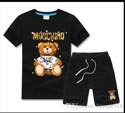 Logo Designer Luxury Kids Sets Baby Boys And Girls Baby Infant Boy Designer Clothes 2Pcs/set Cotton Summer Short Sets