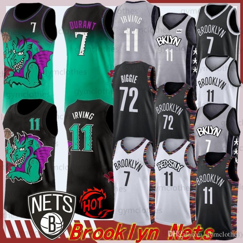 7 Kevin Durant Kyrie Mens 11 Irving College Basketball Jerseys Net 2019 Universidade Nova NCAA Basketball Jerseys Em armazém S-XXL