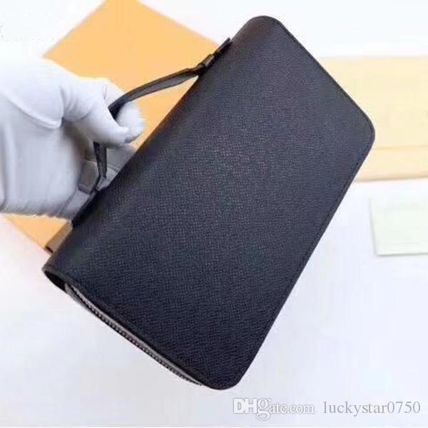 Bolsa Bolsa Longa Novo Clássico Novo Carteira de Carteira Seção Capacidade Zipper Feminino Carteira Dupla Multifuncional Telefone Móvel Moeda Atacado Uali