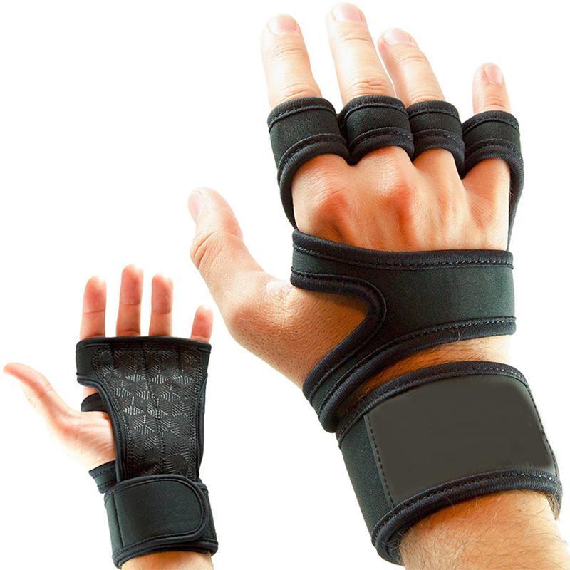 Halter Spor Eldiven Jel Tam Palm Koruma Gym Egzersiz Koruyucu Eldivenler Kadın Erkek Eğitim Power Kaldırma Ekipmanları