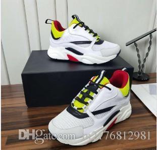 2019 nuevos zapatos de lona 3D reflectantes y piel de becerro deportivos de deportes B22 zapatos casuales Europa moda de los hombres de moda técnicos mn89602