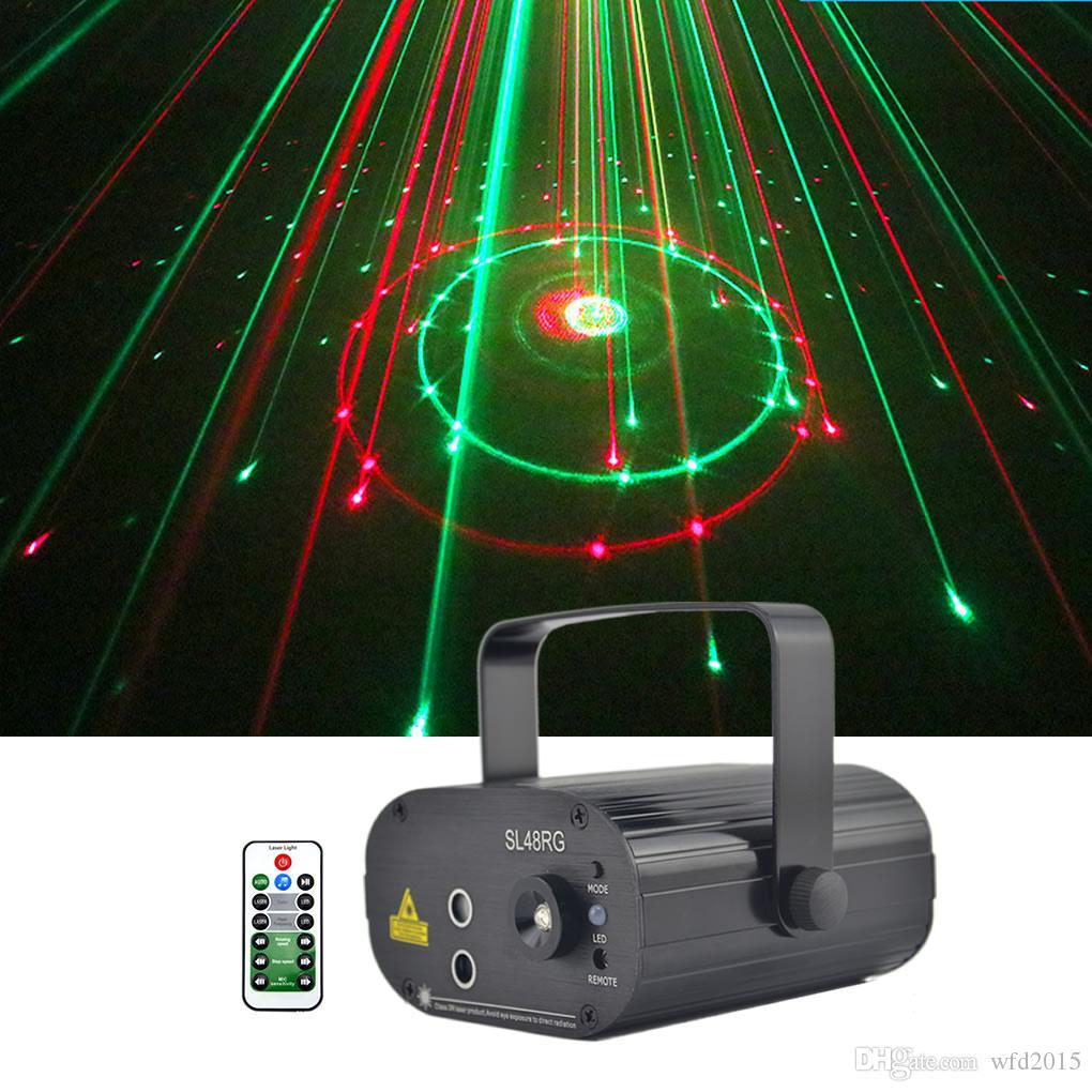 Mini 2 Lens 12 RG Patterns Laser Projector Stage Equipment Light 3W Blue LED Mixing Effect DJ KTV Show Holiday Laser Stage Lighting SL12RG