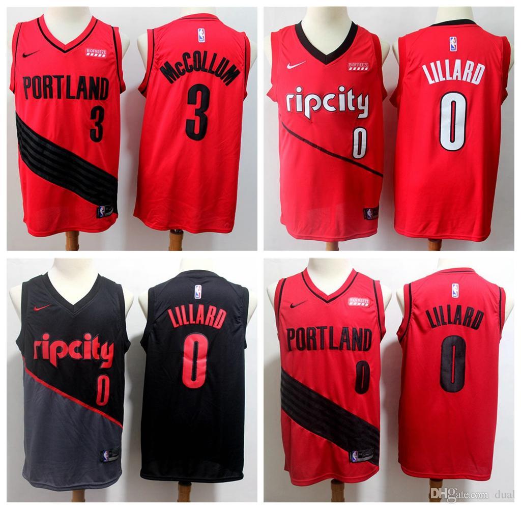 2020 Mens 0 Damian Lillard City Red Black Jersey Edition 3 13 C J Mccollum Vancouver Portland 13 Trail 13 Blazers Basketball Shirts Vintage From Dense Jersey008 17 76 Dhgate Com