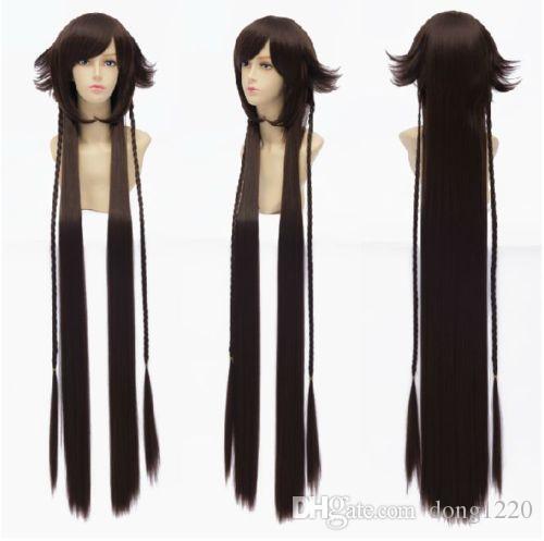 Anime Pandora Hearts Alice Iris Wig Black Rabbit Cos Pul Wig Long