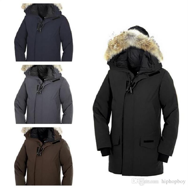 Erkek Aşağı Ceket Erkek Stilist Kış Ceket Erkekler Kadınlar Kaliteli Kanada Kış Ceket Dış Giyim Stilist Palto