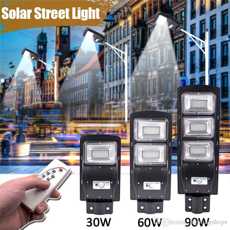 النائية الصمام الشمسية ضوء الشارع 30 واط 60 واط 90 واط أضواء الطاقة الشمسية للماء البير استشعار الحركة الشمسية LED إضاءة في الهواء الطلق لساحة حديقة بلازا