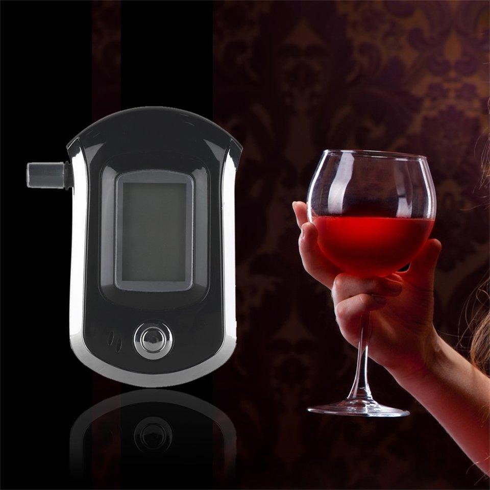 Probador de Alcohol profesional Digital Breathalyzer Breath Analyzer con gran pantalla LCD Digital 5 piezas boquillas