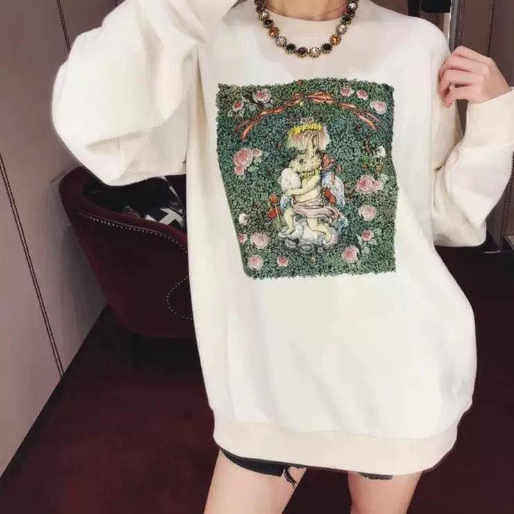 2020 высокое качество женщин свитер весна и осень мода с длинными рукавами толстовка повседневная удобная повседневная одежда M0DX