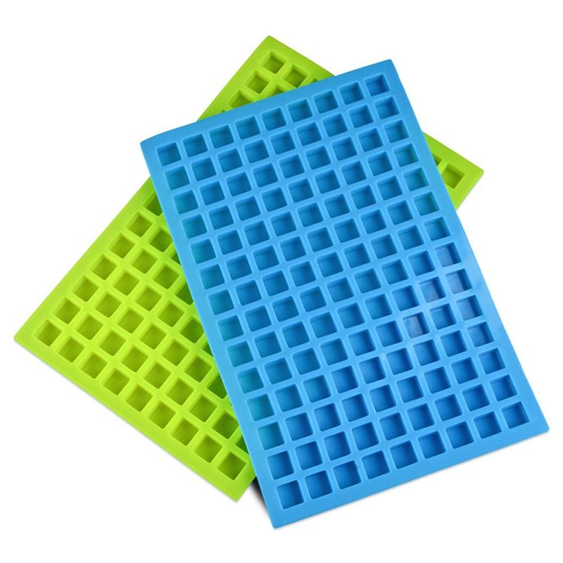 Summer Silicone Ice Molds 126 Lattice Portable Square Cube Chocolate Candy Jelly Mold Kitchen Baking Supplies MMA1640
