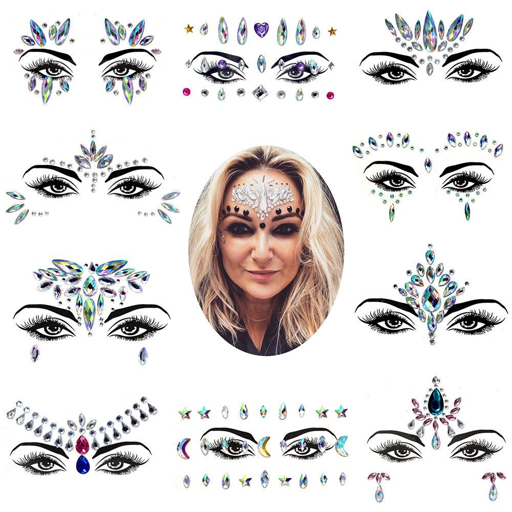 en stock! Tattoo visage forage résine naturelle pâte forage d'eau tatouage pâte visage balle cosmétiques bricolage Masquerade