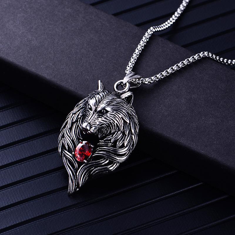 الذئب رئيس قلادة للنساء رجال قلادة ERKEK Kolye السائق بارد مجوهرات الحيوان سحر بالجملة خمر فاسق هدية FREESHIPPING
