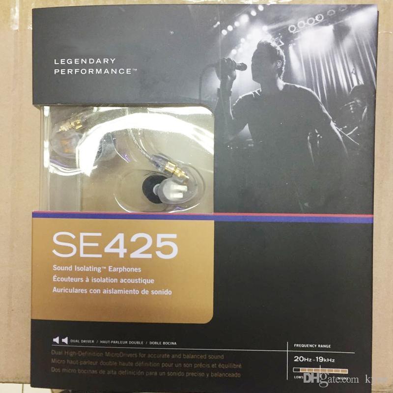 Remis à neuf SE425 écouteurs écouteurs SE 425 écouteurs intra-auriculaires 3,5 mm avec boîte de vente au détail hifi Parfait A +++ écouteurs Expédition DHL