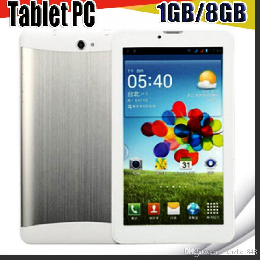 848 cheap 7 inch 3G Phablet Android 5.1 MTK6572 Dual Core 1GB/8GB Dual SIM GPS Phone Call WIFI Tablet PC With Bluetooth EBOOK B-7PB