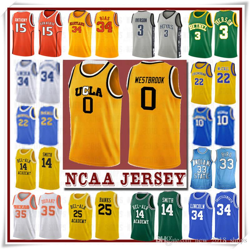 NCCA Jersey Kawhi Leonard James Iverson Männer 23 LeBron Durant 13 Harden Curry Stephen College Basketball Jerseys Russell Westbrook Men9
