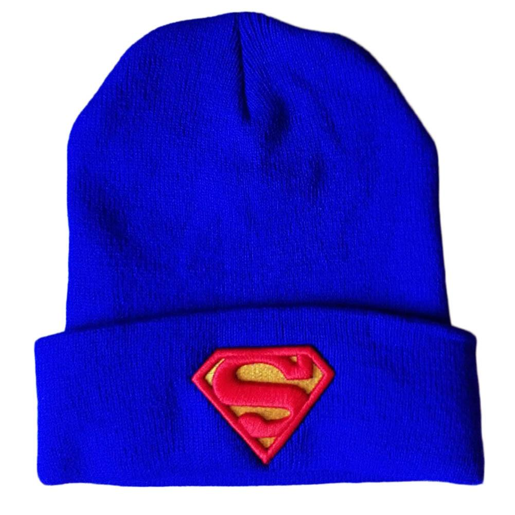 Hot 2016 New Fashion Winter Embroidered Beanie Hat Superman Batman Knitted Hat For Women Men Sports Warm Batman Wool cap Hats