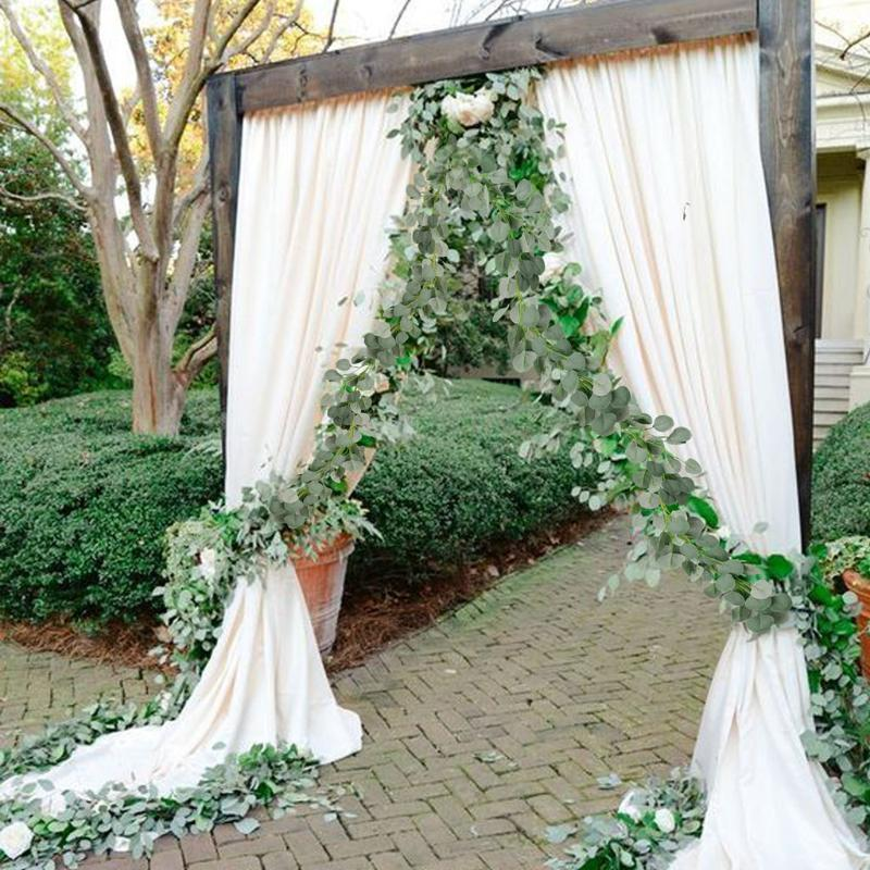 2M Artificial Eucalyptus Vine Rattan Greenery Wedding Decoration Fake Plants Foliage Flowers Ivy Wreath Home Garden Decor