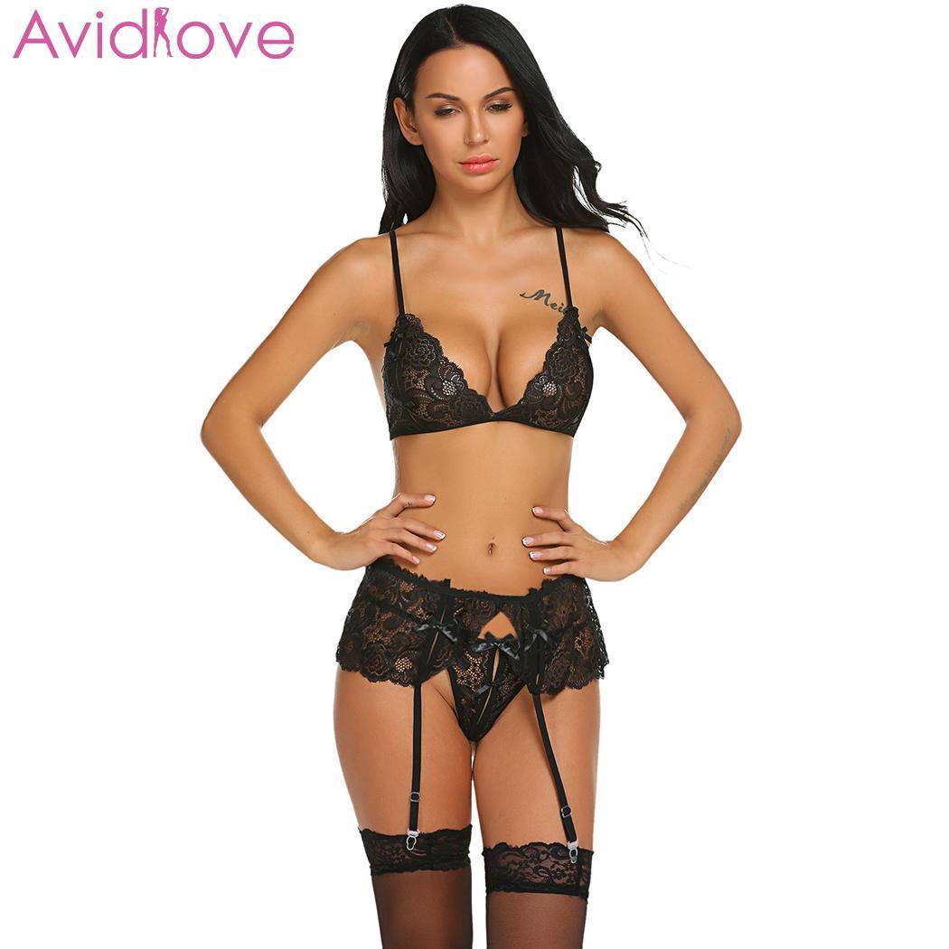 Para estrenar acb50 b00b8 Compre Avidlove Babydoll Sexy Mujer Sutiã Porno Oco Lingerie Sexy Set  Mulheres Hot Erótico Mulheres Lenceria Cueca Trajes De Amyshop2, $15.26 |  ...