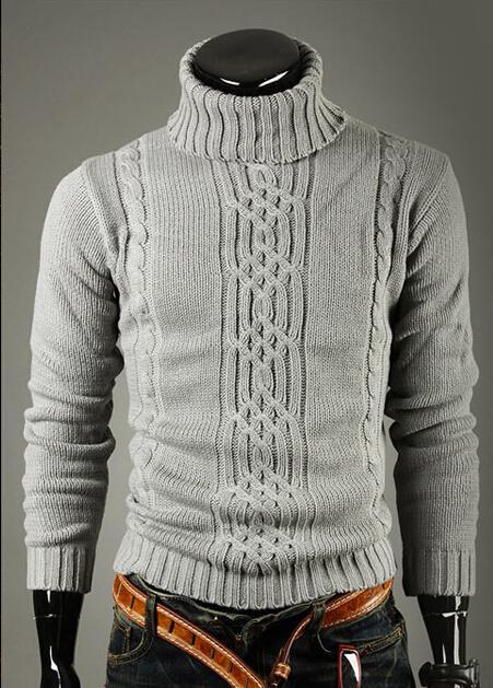 Mode-Männer Strickpullis Mode Herbst Frühling Langarm Rollkragen Warm Bottoming Pullover Sweatshirts Tops Kleidung