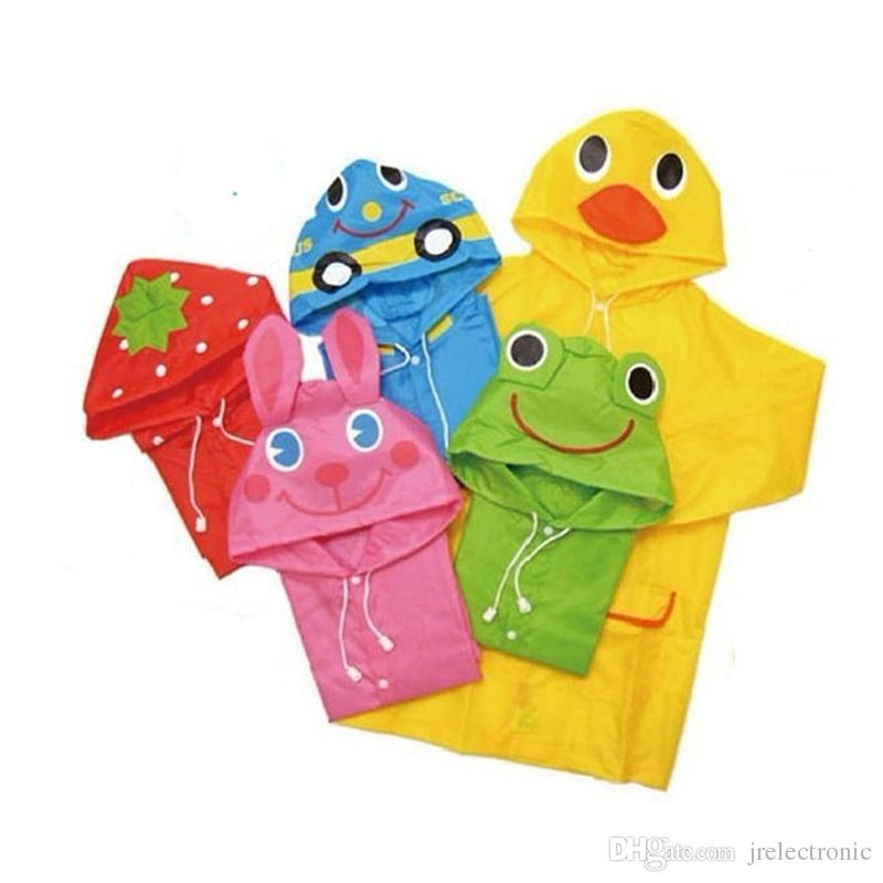 Cartoon Oxford Children Rain Coat Baby Waterproof Rain Poncho Boy Girls Raincoat Student Outdoor Rain Suit