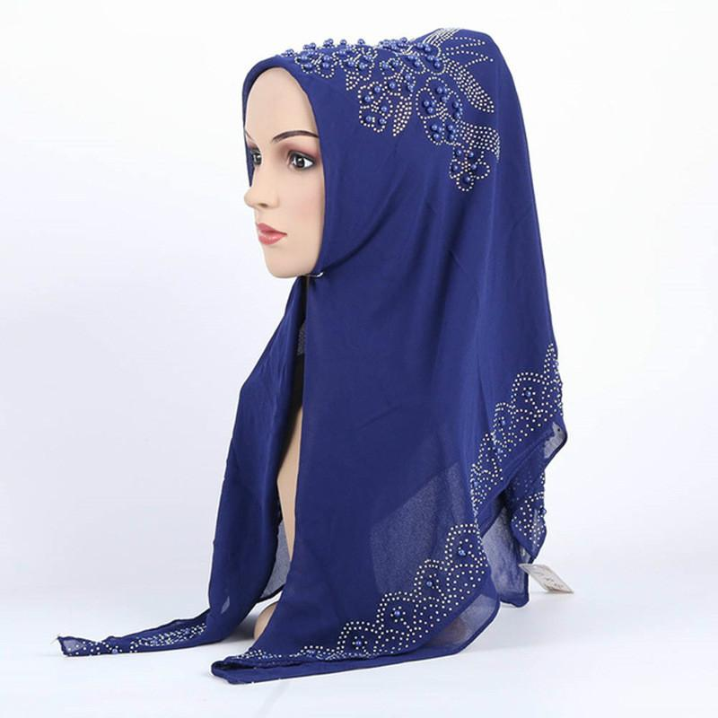 أزياء المرأة رئيس شال التفاف الديكور بنت الحجاب للمرأة أغطية الرأس الفتاة قبعة الشيفون بنت الحجاب وشاح شال