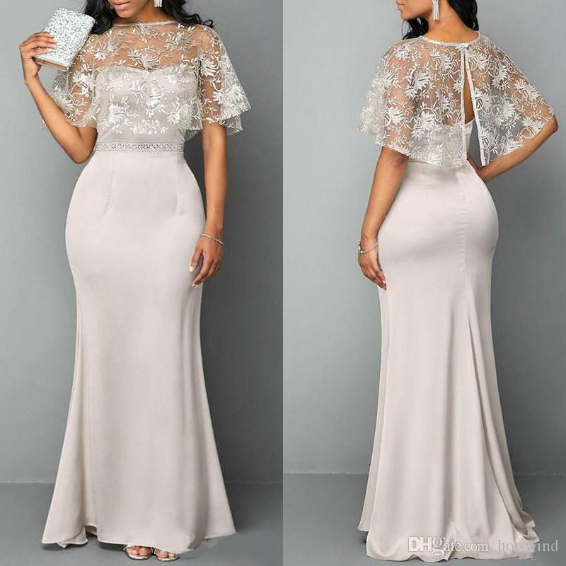 2020 мать невесты платья русалка без бретелек кружевное атласная свадьба гостевые платья с оберткой длиной до пола вечерние платья