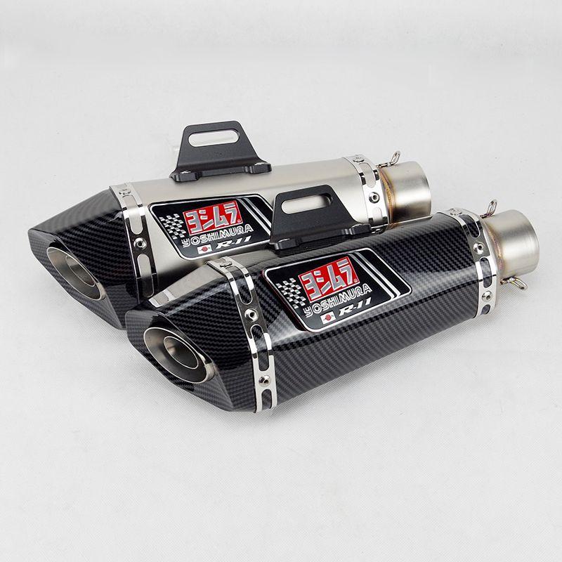 51mm مدخل العالمي دراجة نارية يوشيمورا كاتم للصوت العادم لFZ1 R6 R15 R3 ZX6R ZX10 1000 CBR1000 GSXR1000 650 K7 K8 K11