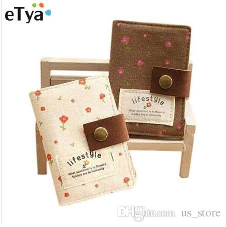 eTya 1 STÜCKE Mode Frauen Kreditkarteninhaber Tasche Korean Style Slot Floral Bus Geschäft Kredit ID Karteninhaber Pack Brieftasche