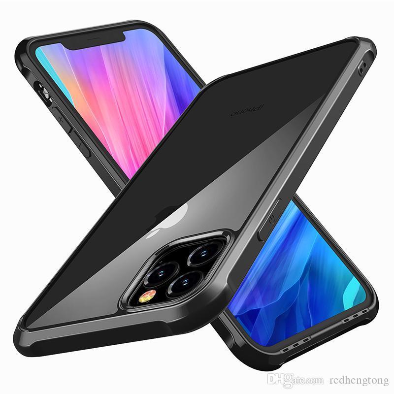 Phone Case trasparente per il caso di iPhone duro libero posteriore TPU respingente di iPhone della copertura di 11 Pro XS MAX XR X 8 7