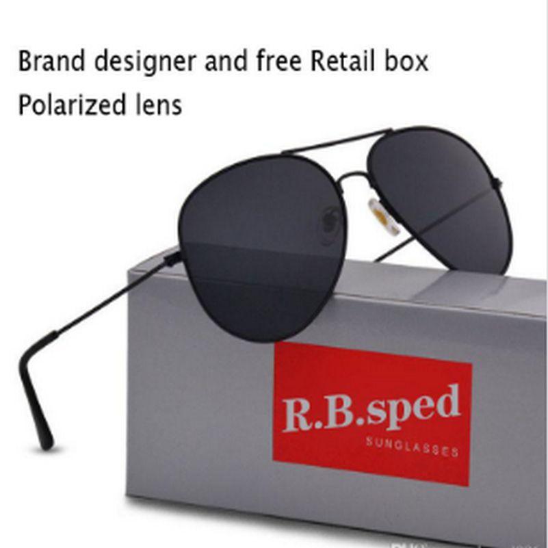 große Brillen uv400 Qualitäts-Marken-Designer UV 400 Sonnenbrille Mens solbriller occhiali da sole solbriller bwkf kkXKl