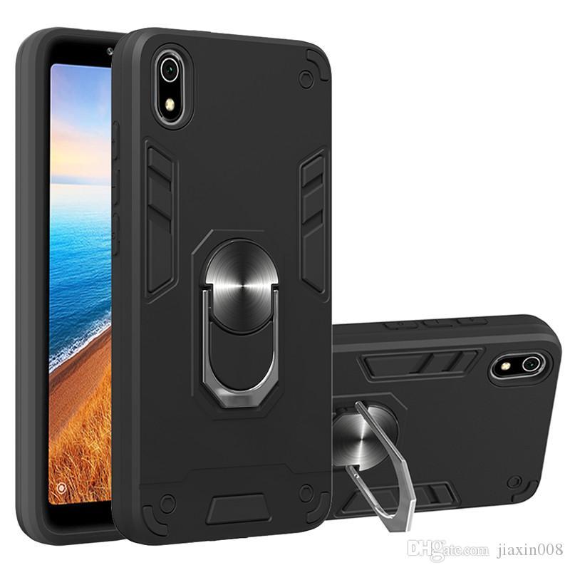 Titular anillo de la armadura de coches Caja de metal para Xiaomi redmi Nota 8 / redmi Nota 8 Pro / redmi Nota 8T magnética parachoques de teléfono de la contraportada