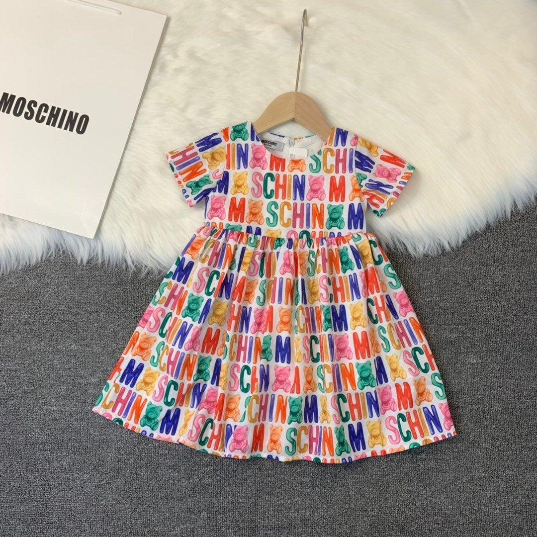 Fashion girl casual high quality comfortable letter printed Short Sleeve Dress 030901
