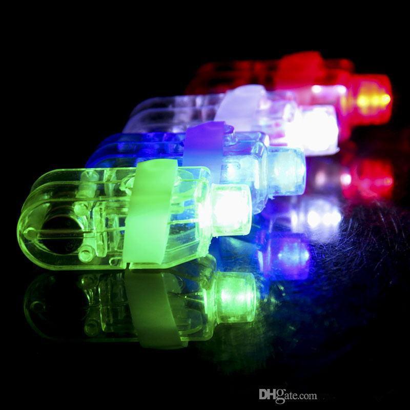 Üreticiler satış LED Parmak Lamba LED Parmak Halka hediyeler Işıklar Glow Lazer Parmak Kirişler Yanıp sönen LED Halka Partisi Flaş Kid Oyuncaklar 4 Renk