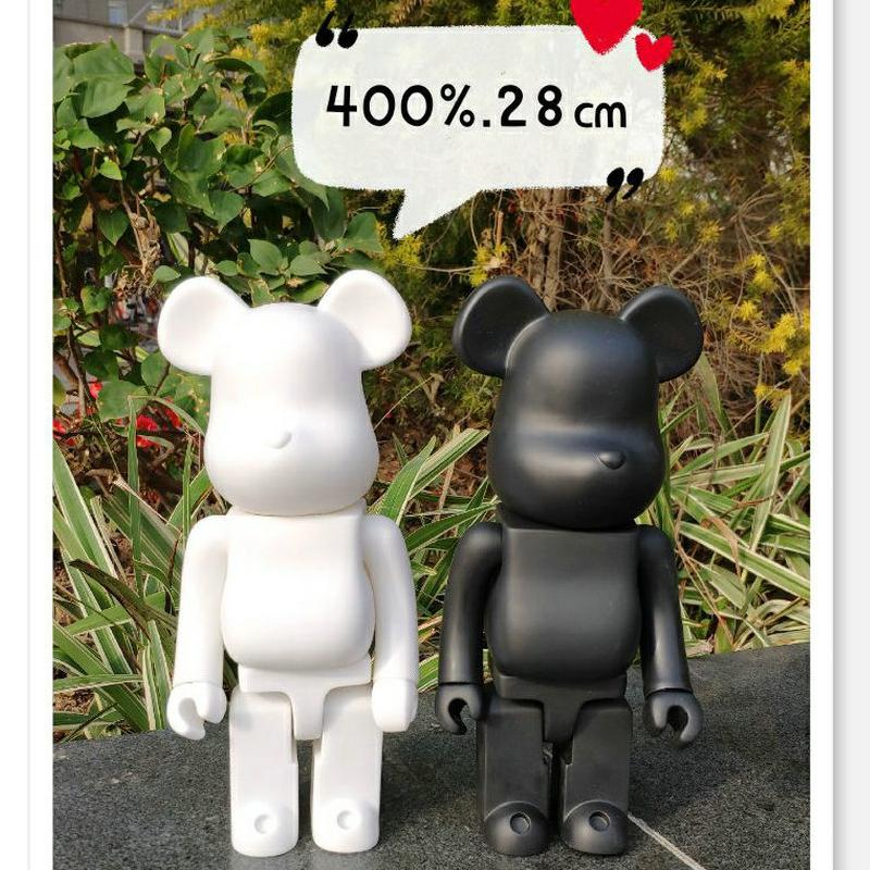 11inch 400٪ Bearbrick الدب @ الطوب عمل أرقام كتلة الدب PVC نموذج أرقام DIY الطلاء الدمى للأطفال العاب اطفال هدايا عيد الميلاد
