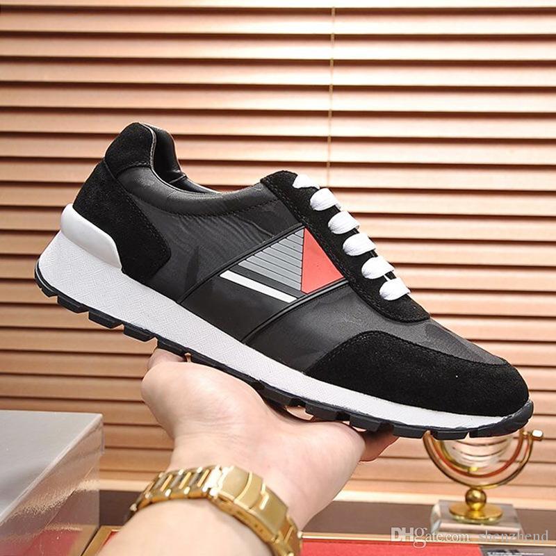 Zapatos zapatillas de deporte tejido técnico de los hombres de la nueva manera más el tamaño de las zapatillas de deporte de lujo-top con cordones de deportes de los hombres de Scarpe deportiva da uomo