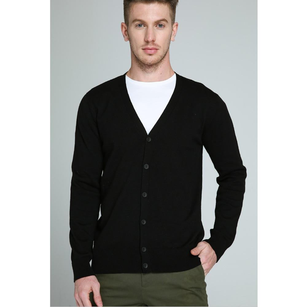 2019 Cardigan Men camisola 100% algodão Knited Sweater masculino Primavera Outono Man Cardigans Muls Casual Marca Equipado Tamanho L XL 2XL 3XL