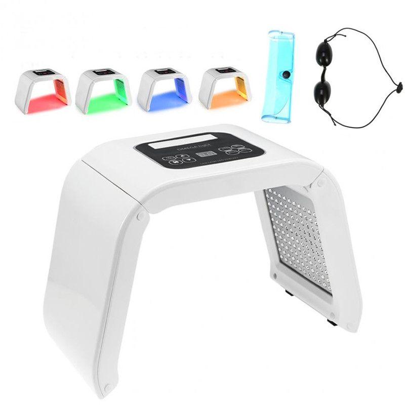 TM-LM004 4 LED 빛 얼굴 마스크 PDT 패널 광자 치료 광 역학 바디 피부 회춘 여드름 치료 살롱 기계