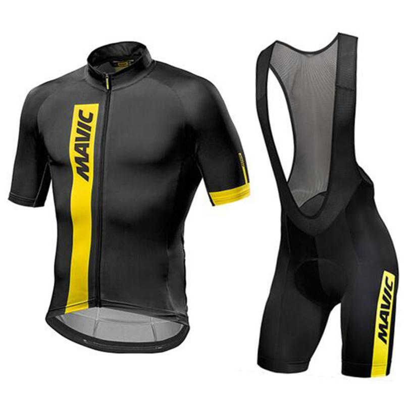MAV 2019 Pro Cycling Team Vêtements / Route Bike Wear Racing Vêtements rapide Cyclisme Jersey sec Hommes Set Ropa Ciclismo Maillot