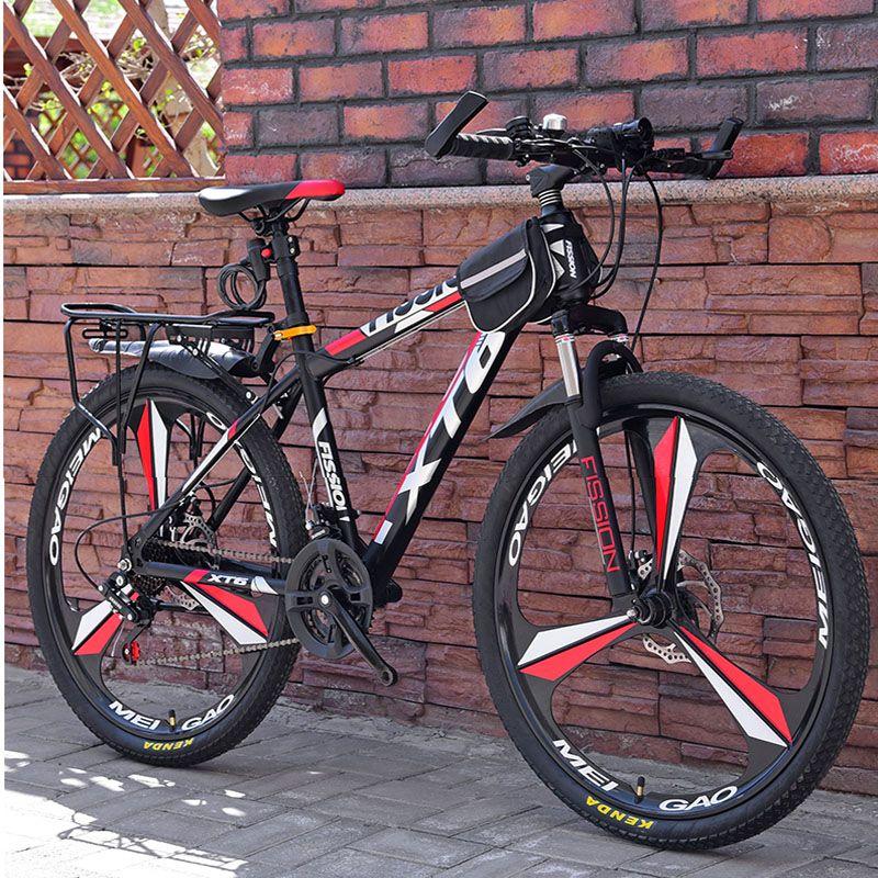 26 pollici bicicletta della montagna 21/24/27 Velocità per adulti a velocità variabile biciclette Student Deluxe Off-Road doppio freno a disco della bici