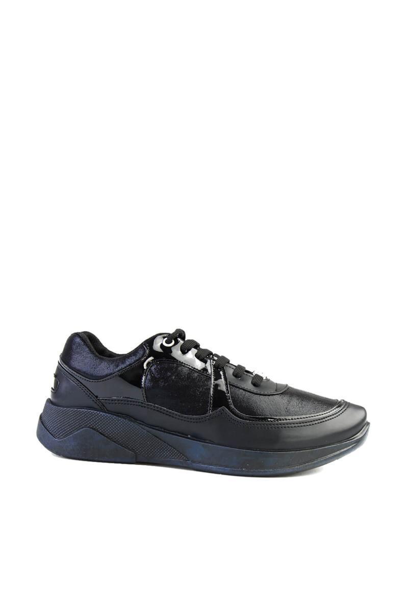 Bambi cuir verni noir des Femmes Chaussures Casual G0487002009