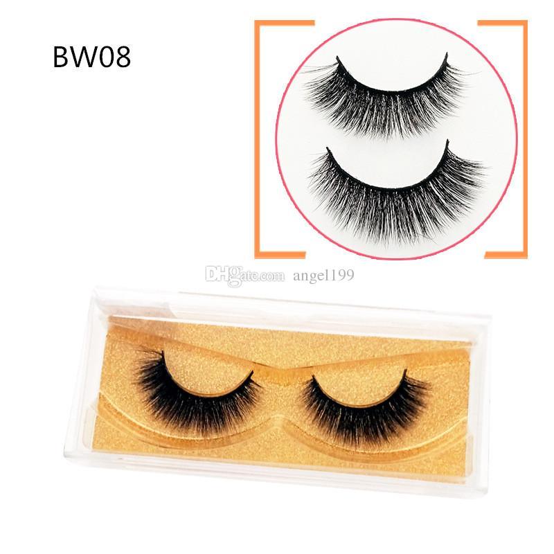 BW08 wholesale New 3D Mink Eyelashes Mink Lashes Thick Long Handmade False Eyelash Eye Makeup Eye Lashes