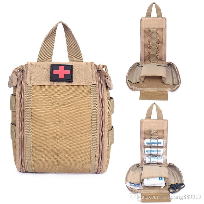 Lightweight And Durable Emergency Kit Tactical Medical First Aid Kit Military Waist Pack Outdoor Camping Travel Tactical Molle Bag DS0598WZL
