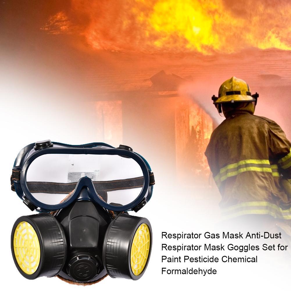 pintura M/áscarilla de Gas Industrial para productos qu/ímicos M/áscara gafas anti-polvo