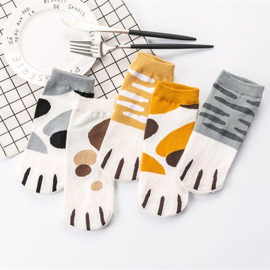 Summer Cotton Socks Cartoon Animal Head Boat Socks Invisible Silica Gel Socks