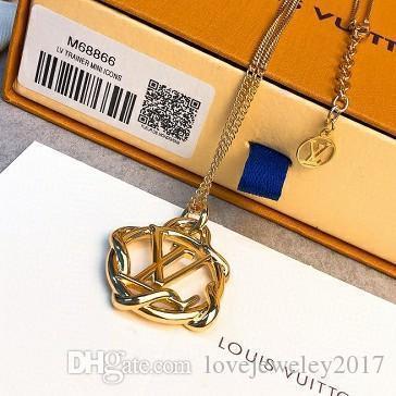 donne collane gioielli di design di lusso cerchio collane ciondolo in argento con logo high-end rosa catena d'oro collana elegante con giardino