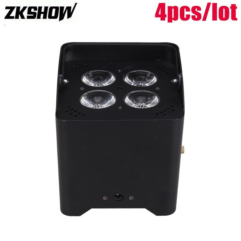 80% Discount DMX Console 4*15W Rechargeable Battery Wireless LED Par Light DJ Disco Party Stage Lighting Effect Luz Discoteca DJ Disko