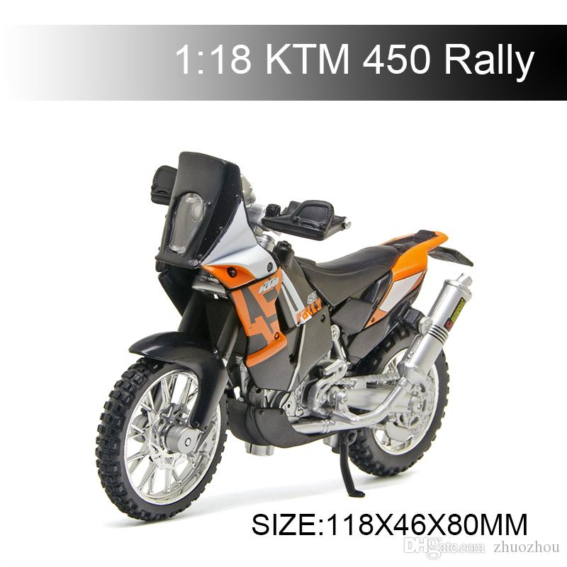 1:18 Motorcycle Model KTM 450 Rally Model bike Alloy Motorcycle Model Motor Bike Miniature Race Toy For Gift Collection